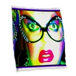 Drag Queen HRHSF Burlap Throw Pillow