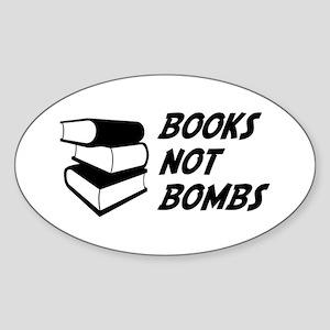 Books Not Bombs Oval Sticker
