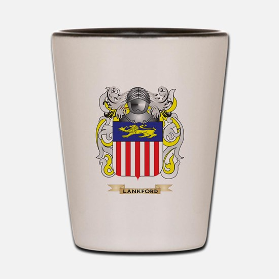 Lankford Coat of Arms - Family Crest Shot Glass