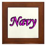 Pink and Black Navy Framed Tile