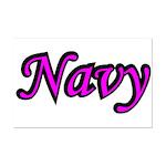 Pink and Black Navy  Mini Poster Print