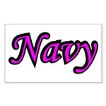 Pink and Black Navy Rectangle Sticker