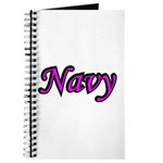 Pink and Black Navy Journal