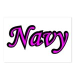 Pink and Black Navy Postcards (Package of 8)