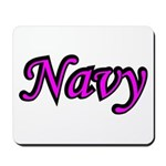 Pink and Black Navy Mousepad
