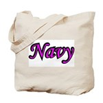 Pink and Black Navy  Tote Bag