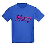 Pink and Black Navy Kids Dark T-Shirt