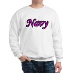 Pink and Black Navy Sweatshirt