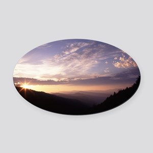 Great Smoky Mountain National Park Oval Car Magnet