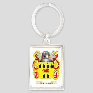 La-Rosa Coat of Arms - Family Cr Portrait Keychain