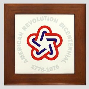 American Revolution Bicentennial Milit Framed Tile