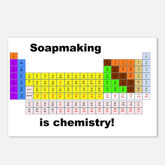 SoapMaking is chemistry Postcards (Package of 8)
