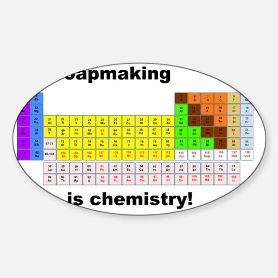 SoapMaking is chemistry Sticker (Oval)