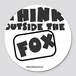 Think Outside The Fox Round Car Magnet