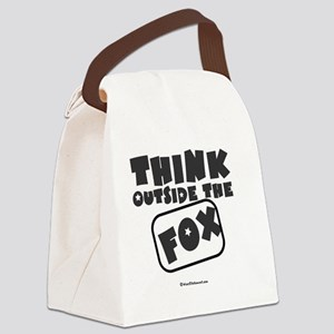Think Outside The Fox Canvas Lunch Bag