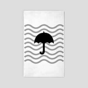 Dreamy Black Umbrella 3'x5' Area Rug