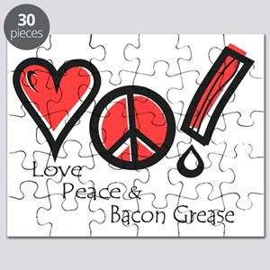 Love Peace and Bacon Grease Puzzle