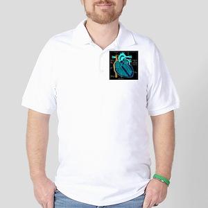 dr heart_diagram lr d Golf Shirt