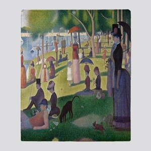 Island of La Grande Jatte Throw Blanket