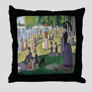 Island of La Grande Jatte Throw Pillow