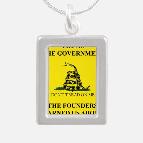 THIS IS THE GOVERNMENT T Silver Portrait Necklace