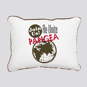 Re-Unite Pangea Rectangular Canvas Pillow