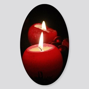 Advent Candles 002 Sticker (Oval)