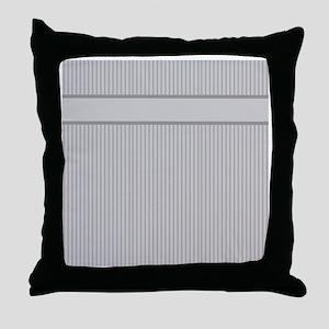 Grey Pin Stripes Pattern Throw Pillow