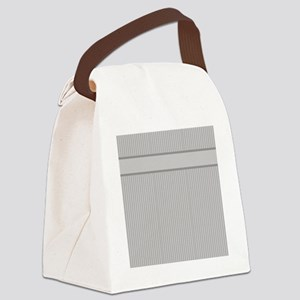 Grey Pin Stripes Pattern Canvas Lunch Bag