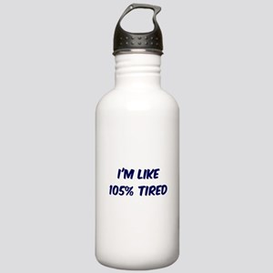 105% TIRED Stainless Water Bottle 1.0L
