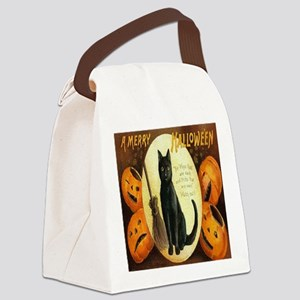 Vintage Halloween Jack O Lantern  Canvas Lunch Bag