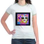 SisterFace Gardens Jr. Ringer T-Shirt
