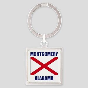 Montgomery Alabama Square Keychain