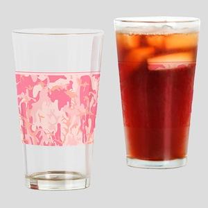 Pink Camo Pattern Drinking Glass