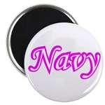 Pink and White Navy ver4 Magnet