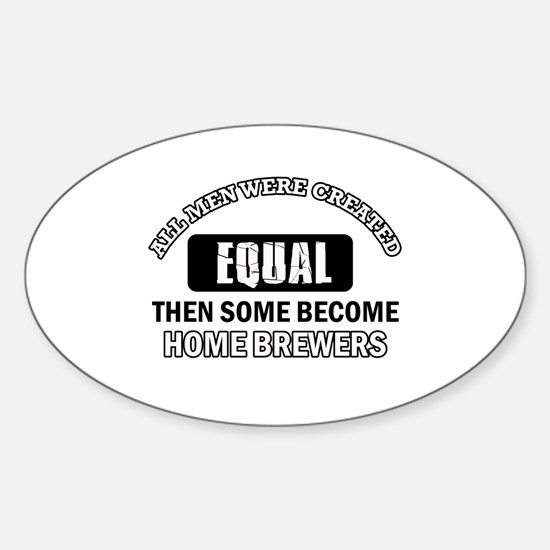 Home Brewers Designs Sticker (Oval)