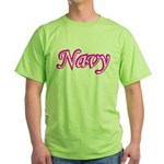 Pink and White Navy ver4 Green T-Shirt