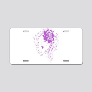Purple Woman Aluminum License Plate