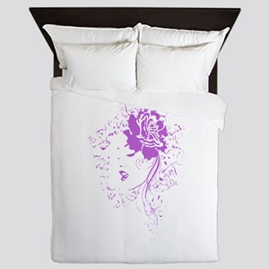 Purple Woman Queen Duvet