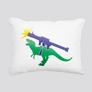 Tyrannosaurus Rex with a Rectangular Canvas Pillow