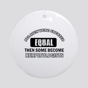 Herpetologists Designs Ornament (Round)
