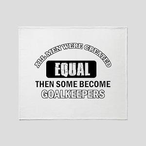 Goalkeepers Designs Throw Blanket