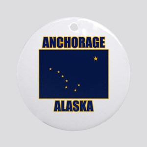 Anchorage Alaska Ornament (Round)