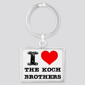 I Love The Koch Brothers Landscape Keychain