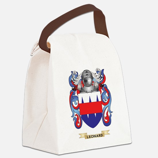 Leonard Coat of Arms - Family Cre Canvas Lunch Bag