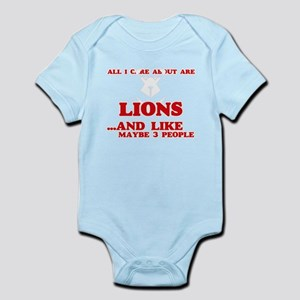 All I care about are Lions Body Suit