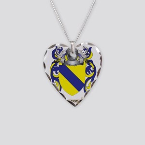 Leos Coat of Arms - Family Cr Necklace Heart Charm