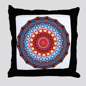 Funky Artsy Bold Bright Colourful Throw Pillow