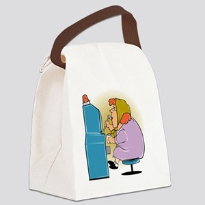 lucky slot machine Canvas Lunch Bag