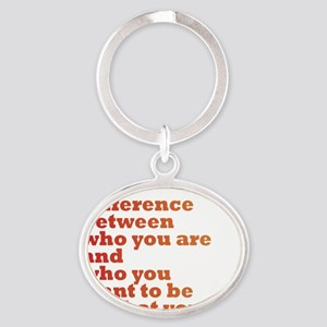 The Difference (red/orange) Oval Keychain